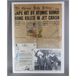 WWII Signed Photo, Document, and Newspaper