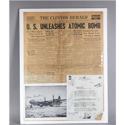 WWII Signed Photo, Document, & Newspaper
