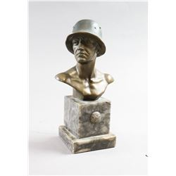 WWII Nazi SS Soldier Bust