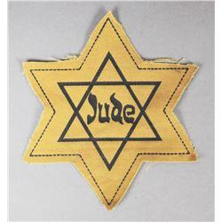 WWII Nazi Jewish Star Patch
