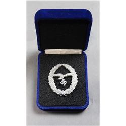 WWII Nazi Luftwaffe Marksmanship Lanyard Medal