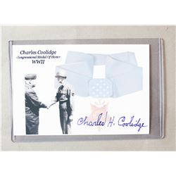 WWII Medal Of Honor Recipient Signed Card