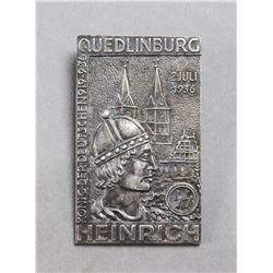 WWII Nazi SS Quedlinburg Tinnie