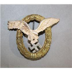 WWII Nazi Luftwaffe Pilot Observer Badge