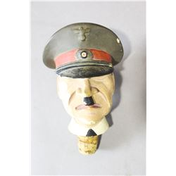 WWII Nazi Hitler's Head Bottle Topper