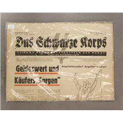 WWII Nazi SS Schwarze Korps Newspaper