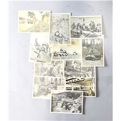 WWII Nazi Lot of 11 SS Postcards