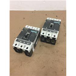 (2) Siemens HFX3P250 HFGA Circuit Breaker