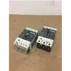 (2) Siemens HDX3B100 HDGA Circuit Breaker