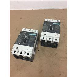 (2) Siemens HDX3B060 HDGA Circuit Breaker