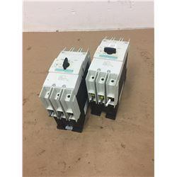 (2) Siemens 3RV1742-5ED10 Circuit Breaker w/  3RV1742-5BD10 Circuit Breaker