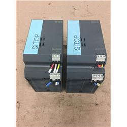 (2) Siemens 1P 6EP1 334-2AA01 SITOP SMART 10A Power Supply