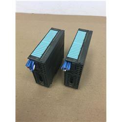 (2) Siemens 1P 6ES7 322-1BH01-0AA0 & 1P 6ES7 321-1BH02-0AA0 Output Modules
