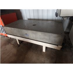 "90"" x 43"" x 14"" Rock of Ages Granite Table"
