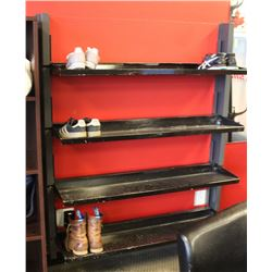 WALL MOUNTED FOLDING SHOE RACK, 52 X 62 X 14