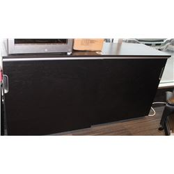 SLIDING DOOR CREDENZA, WITH COMBINATION LOCK