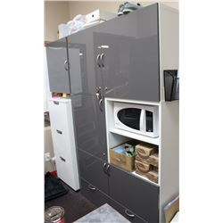 9 SECTION LOCKING STORAGE CABINET, 47 X 76 X 18,
