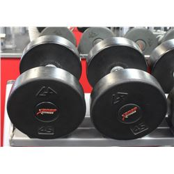 PAIR OF 45LB DUMBELLS