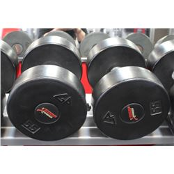 PAIR OF 55LB DUMBELLS