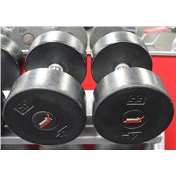 PAIR OF 65LB DUMBELLS