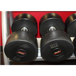PAIR OF 70LB DUMBELLS