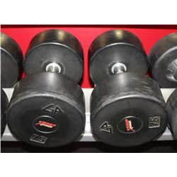 PAIR OF 75LB DUMBELLS