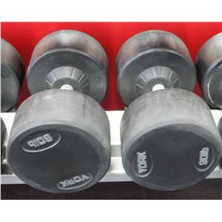 PAIR OF 90LB DUMBELLS