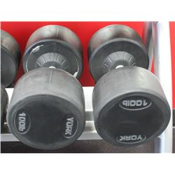 PAIR OF 100LB DUMBELLS