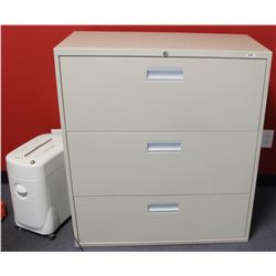3 DRAWER LATERAL FILE CABINET, 36 X 18 X 41