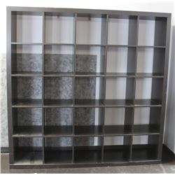 25 SECTION CUBICLE STORAGE SHELF, 72 X 72 X 16