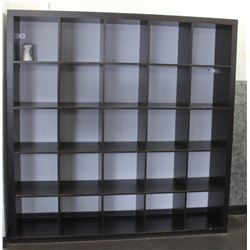26 SECTION CUBICLE STORAGE SHELF, 72 X 72 X 16