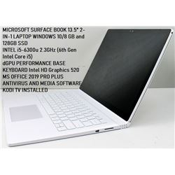 "MICROSOFT SURFACE BOOK 13.5"" 2-IN-1 LAPTOP WIN 10!"