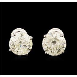 14KT White Gold 2.95 ctw Diamond Stud Earrings