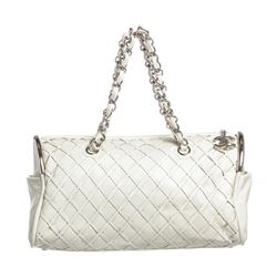 Chanel White Ultimate Soft Leather Sombrero Bowler Bag