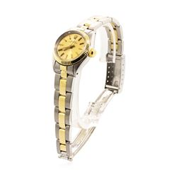 Rolex Lady's Oyster Perpetual Wristwatch - Stainless Steel and 18KT Yellow Gold