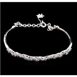 0.87 ctw Diamond Bracelet - 14KT White Gold