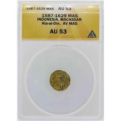 1587-1629 Indonisia Ala-al-Din Mas Gold Coin ANACS AU53