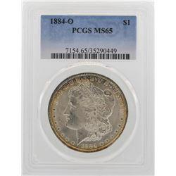 1884-O $1 Morgan Silver Dollar Coin PCGS MS65