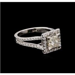 1.85 ctw Diamond Ring - 14KT White Gold