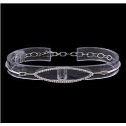 0.40 ctw Diamond Bracelet - 14KT White Gold