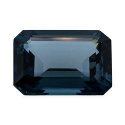 30.45 ct. Natural Emerald Cut London Blue Topaz