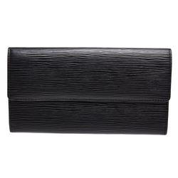 Louis Vuitton Black Epi Leather Porte Monnaie Long Wallet