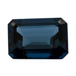 32.93 ct. Natural Emerald Cut London Blue Topaz