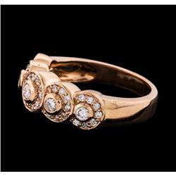 0.60 ctw Diamond Ring - 14KT Rose Gold