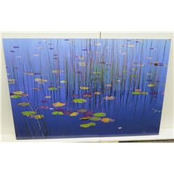 """'Lilies of the Pond' by Peter Lik – Limited Edition (302  of 950), 1.5 Meter, Frameless, 39.5"""" x 59"""""""