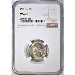 1951-S JEFFERSON NICKEL NGC MS-67
