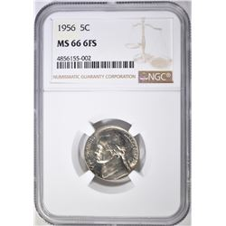 1956 JEFFERSON NICKEL NGC MS-66 6FS