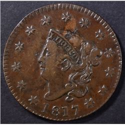 "1817 LG CENT 13-STARS, VF ""10"" in marker on back"