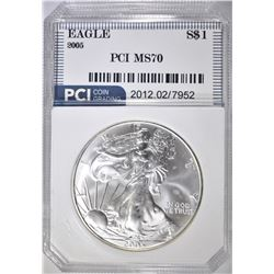 2005 AMERICAN SILVER EAGLE PCI PERFECT GEM BU