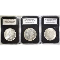 1921, 1921-D & 1921-S MORGAN DOLLARS